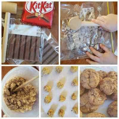 kit kat cookie recipe collage