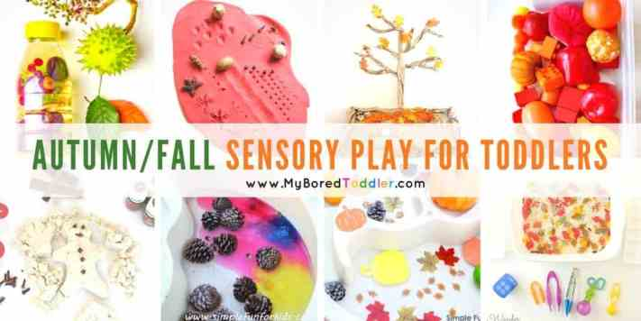 Autumn and fall sensory play for toddlers feature
