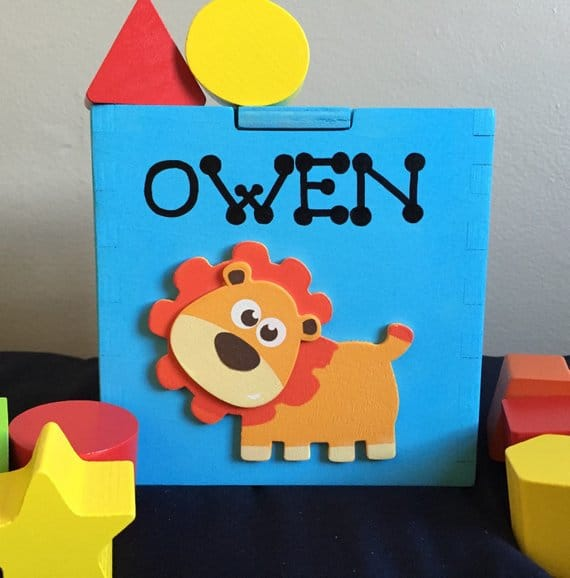 personalized shape sorter