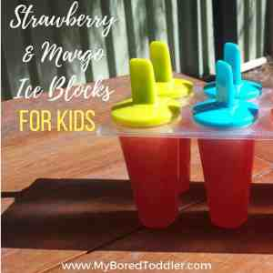 strawberry & mango ice blocks for kids square image