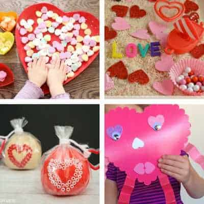 toddler heart crafts and ideas for Valentine's Day