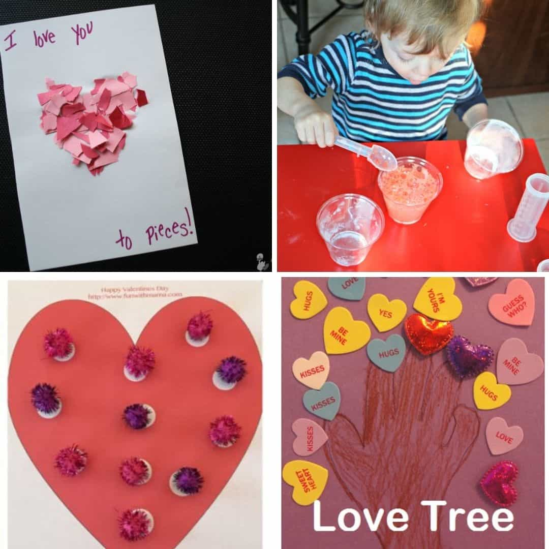 Valentine's Day crafts for toddlers and preschoolers easy ideas for toddlers to make