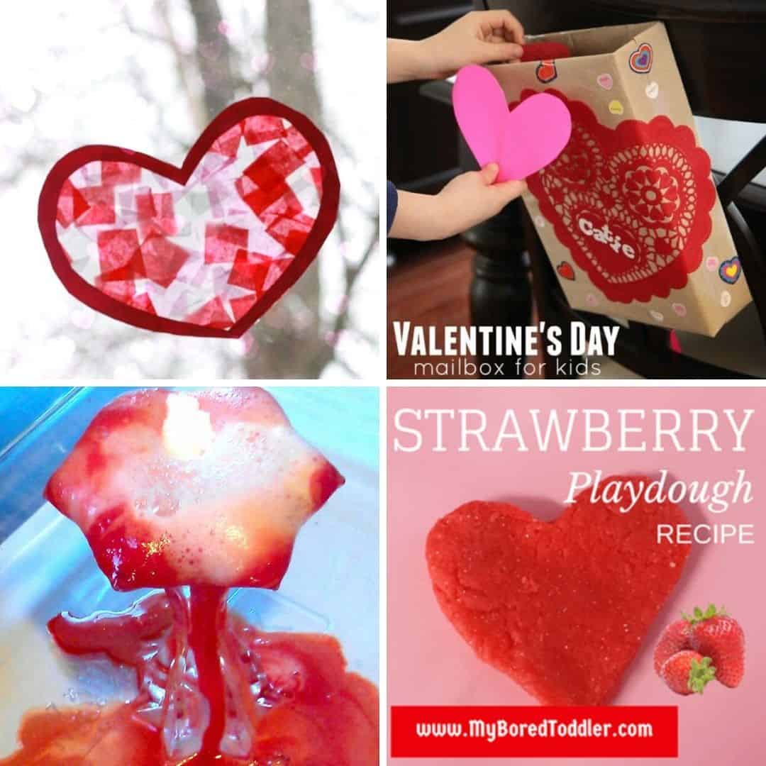 Valentine's Day toddler crafts and Valentine's Day toddler activities for 1 2 3 year olds