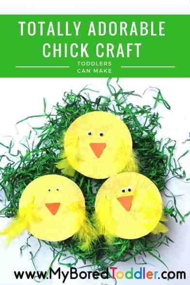 Totally adorable Easter chick craft for toddlers pinterest