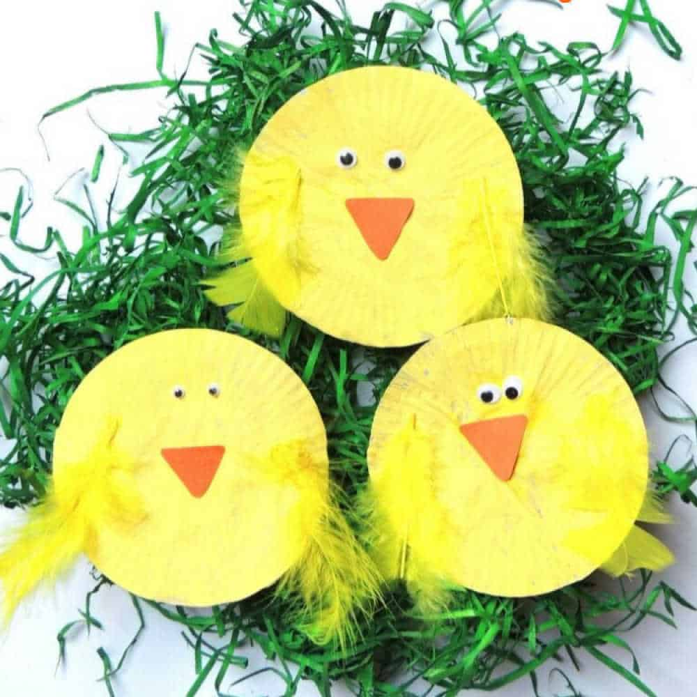 Paper Plate Easter Chick Craft for Toddlers