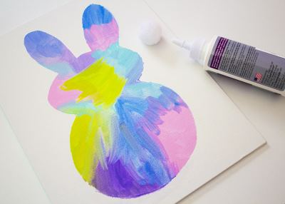 easy easter bunny painting activity for toddlers in process pics 4