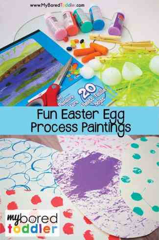 easter egg process painting for toddlers pinterest