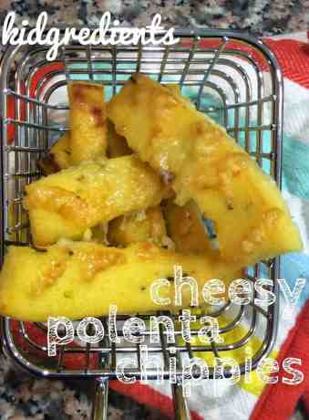baked polenta chippies