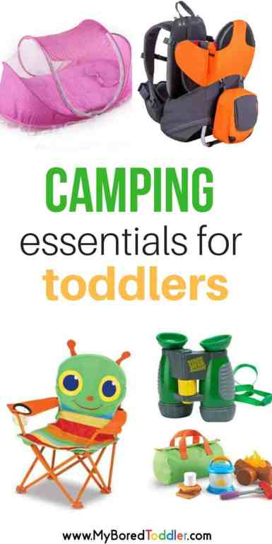 camping essentials for toddlers pinterest