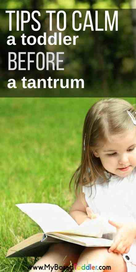 tips to calm a toddler before a tantrum