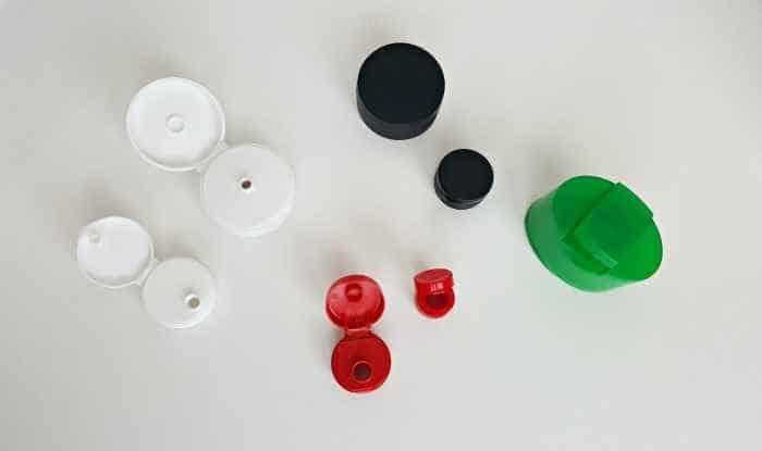 flip-top lids color sort