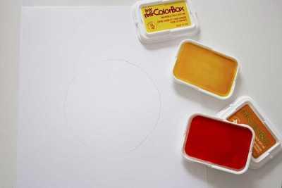 paper plate & fingerprint flower craft 4