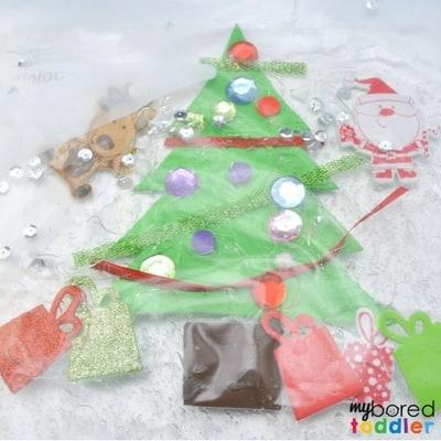 Toddler Christmas Tree Sensory Bag