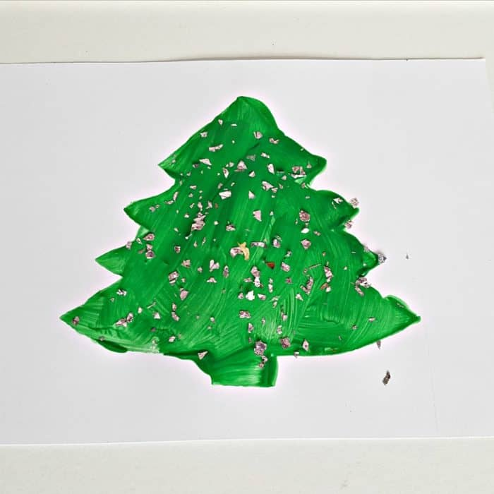 Christmas Tree Stencil Craft for Toddlers