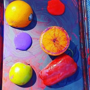 fruit and vegetable stamping and painting