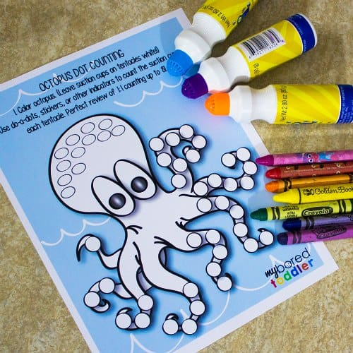Octopus do-a-dot fine motor activity supplies