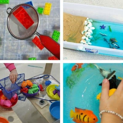 sensory bins for summer for 2 and 3 year olds