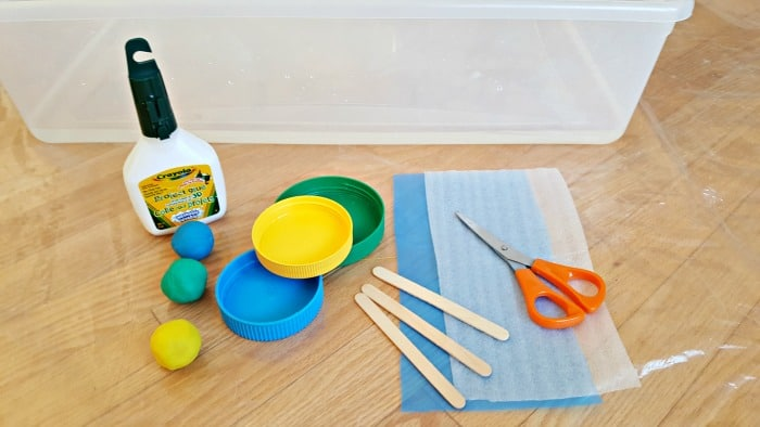 supplies for jar lid boats water play for toddlers