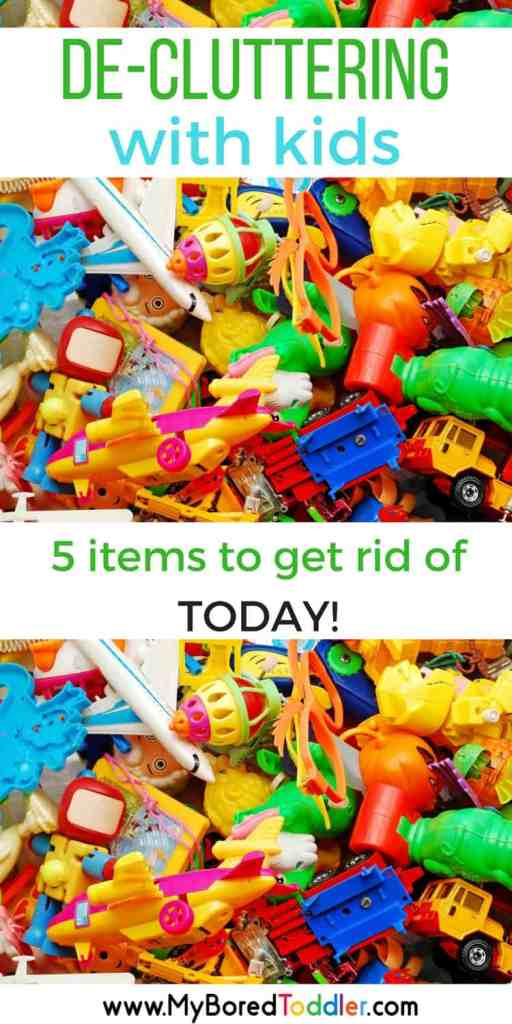 decluttering with kids pinterest