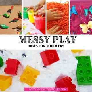 messy play ideas for toddlers feature