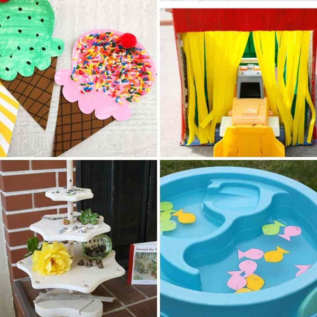 summer activiites for toddlers to do at home - easy summer crafts for 1 2 and 3 year olds
