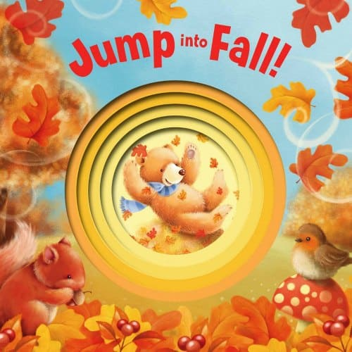 Jump into Fall board book for toddlers best