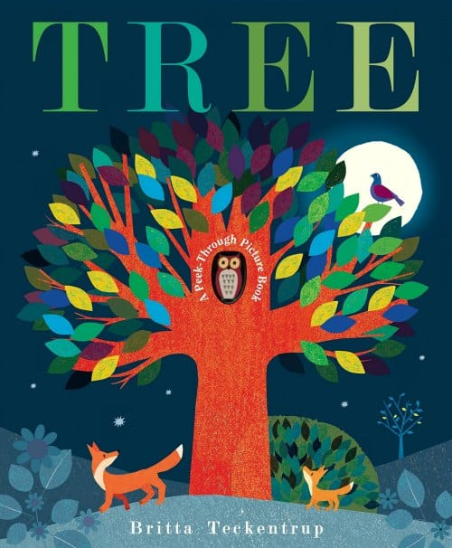 TREE peekabook fall book for toddlers