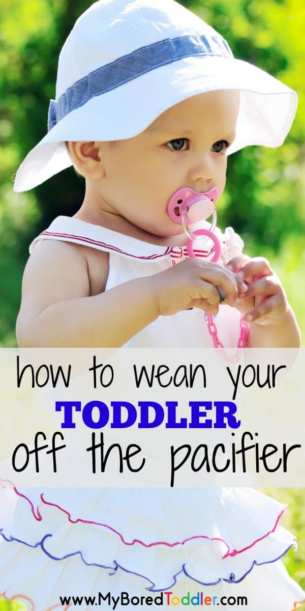 How to wean your toddler off the pacifier