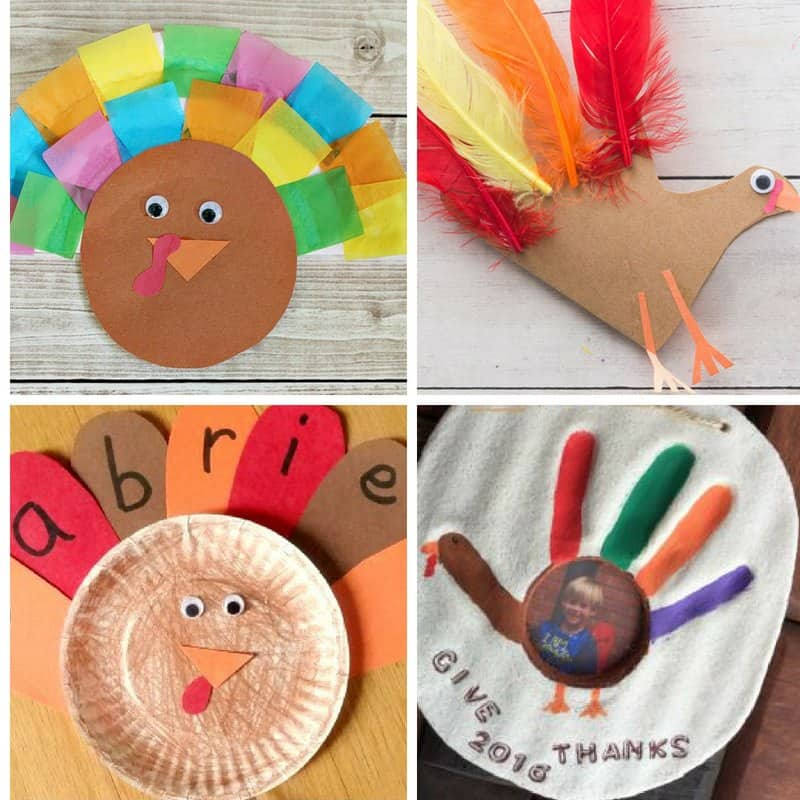 easy turkey crafts for toddlers to make