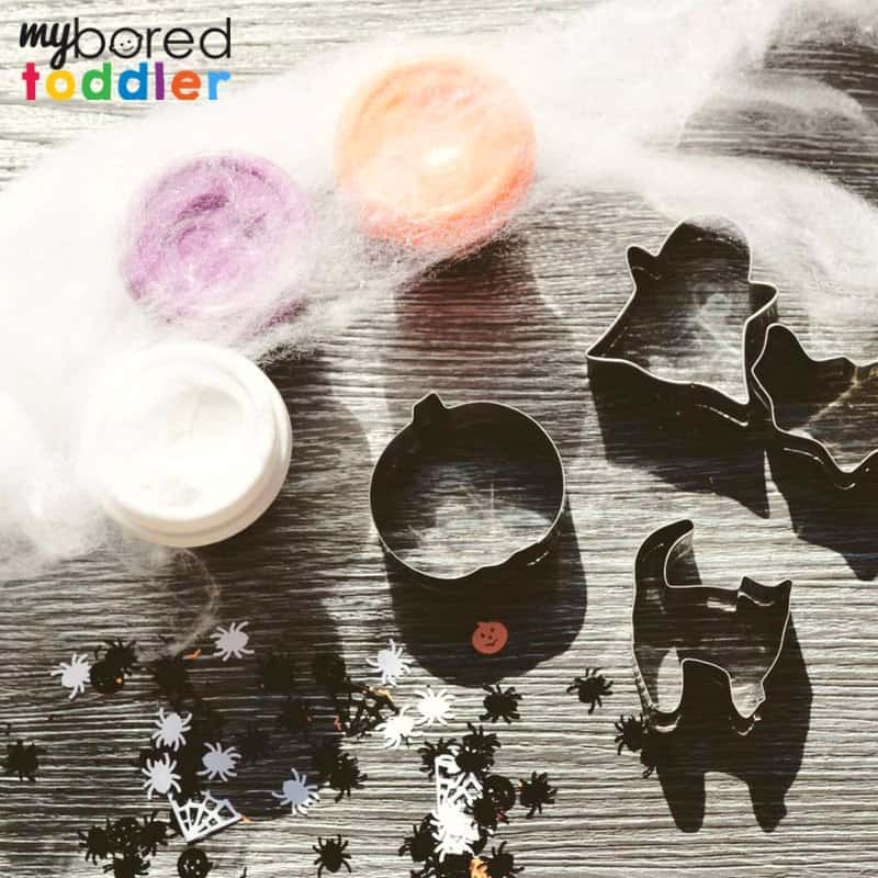 halloween playdough invitation to play