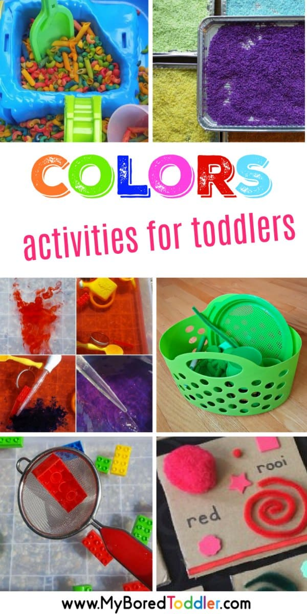 how to teach colors to toddlers toddler activities about colors pinterest