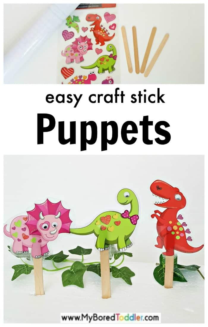 how to make dinosaur puppets with craft sticks
