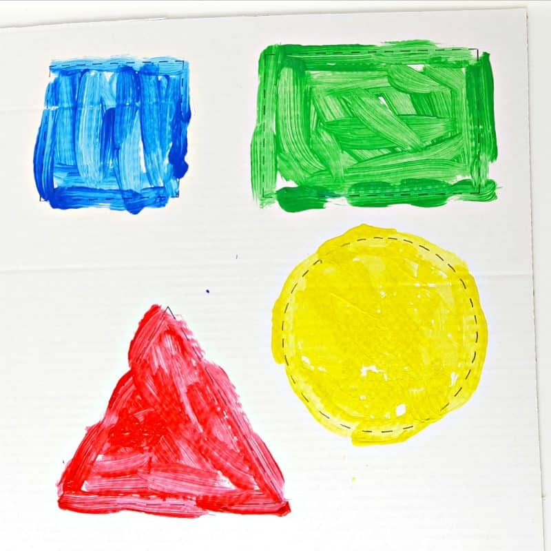 Painting Shapes – Easy Toddler Painting Activity