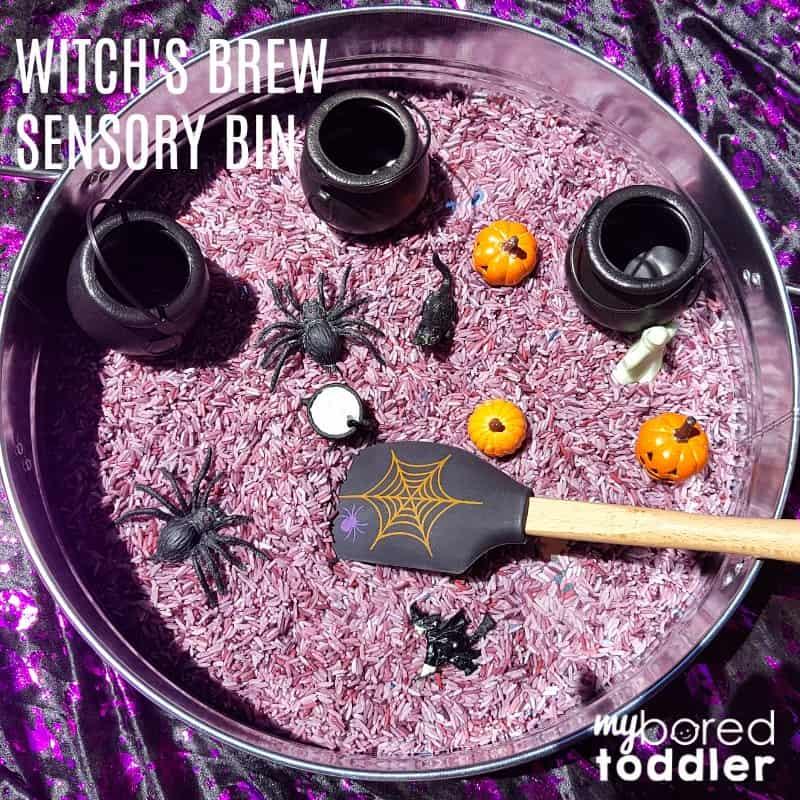 Witch's Brew Sensory Bin for Halloween