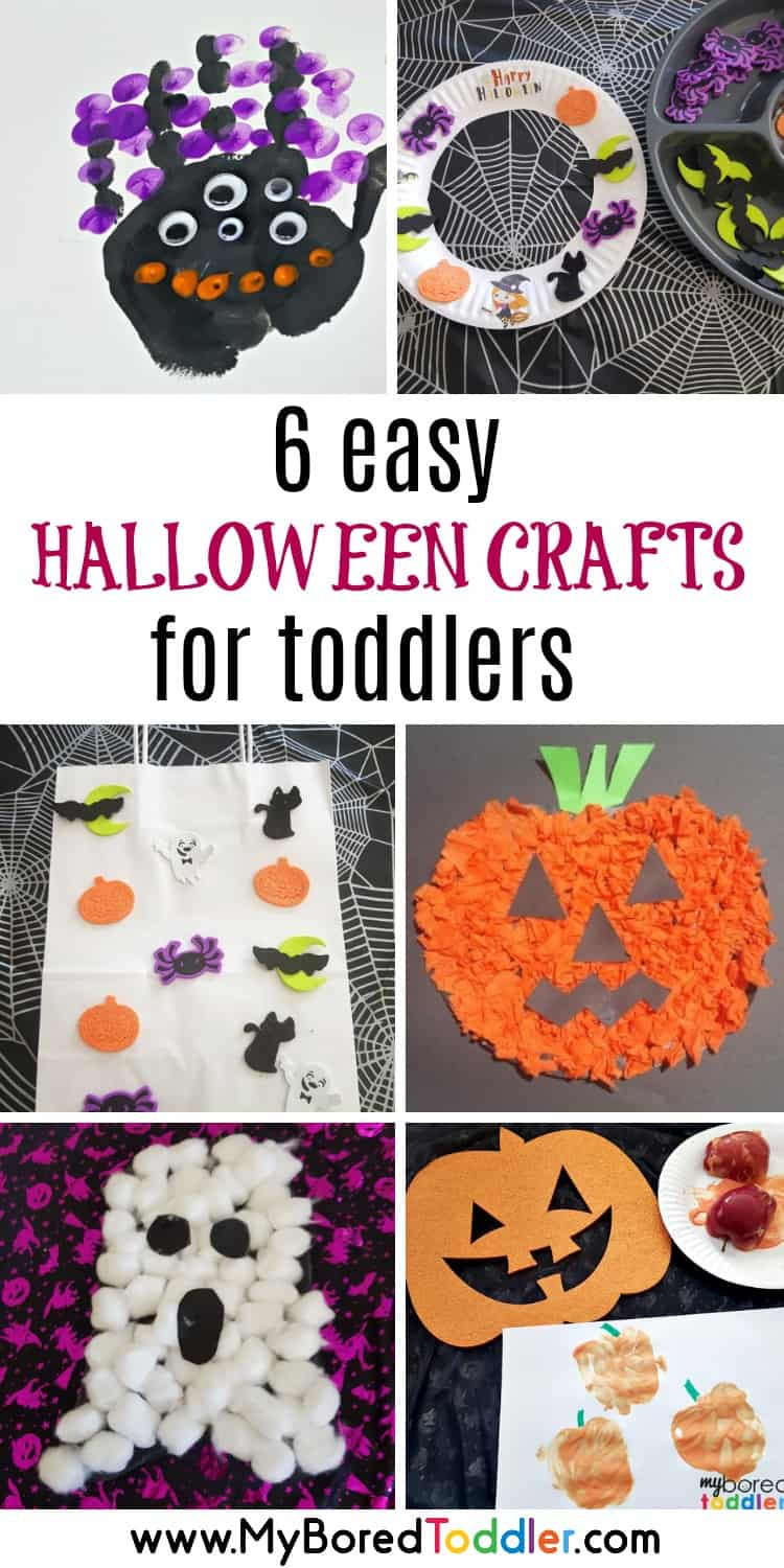 easy halloween crafts for toddlers 2 year olds 3 year olds pinterest