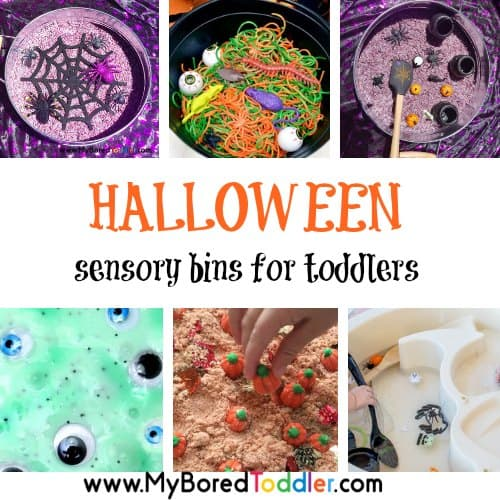 Halloween sensory bins for toddlers