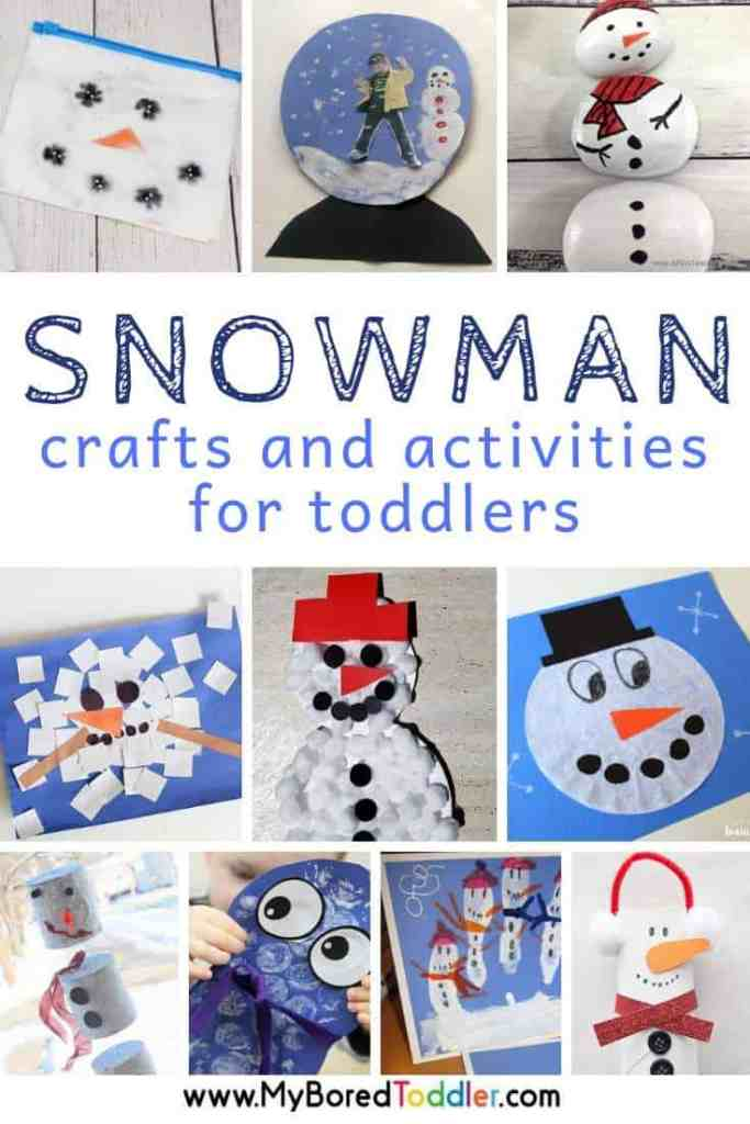 Snowman craft and activities for toddlers