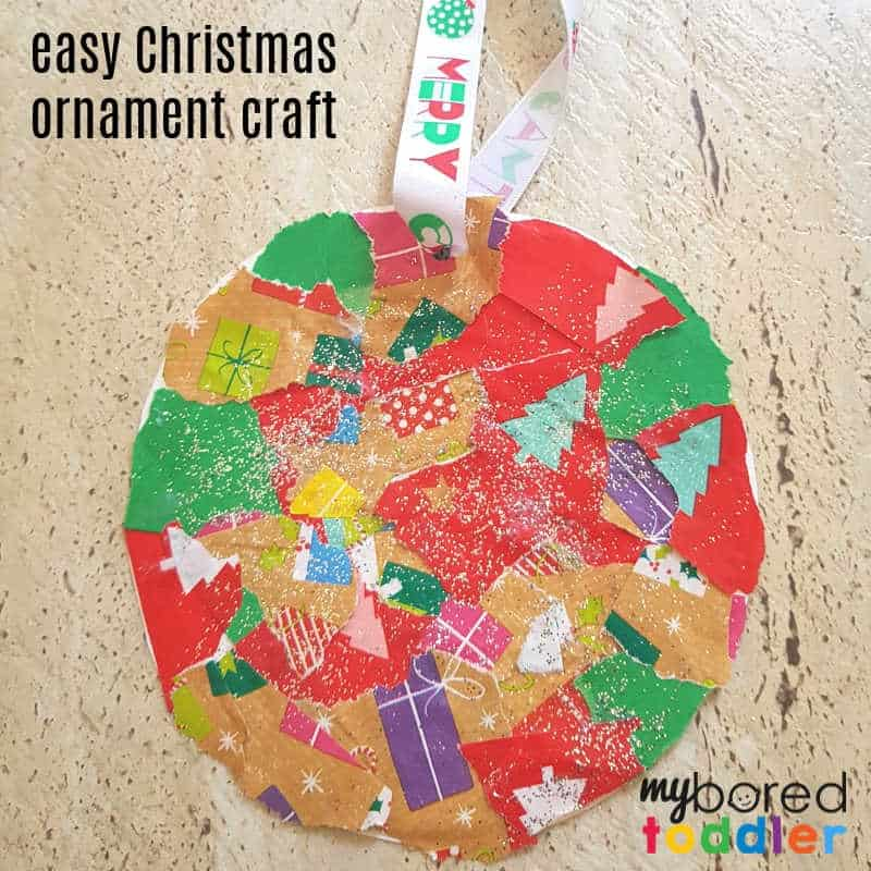 Easy Christmas Ornament Craft for Toddlers