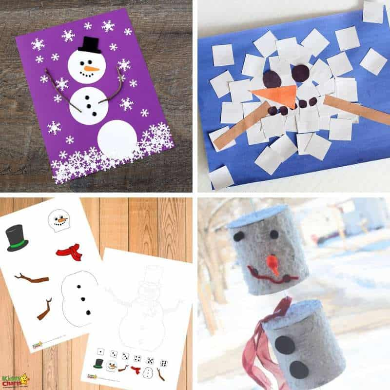 easy snowman activities for kids