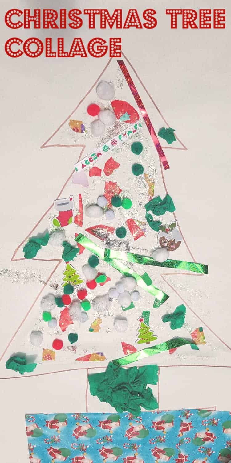 christmas tree collage pinterest