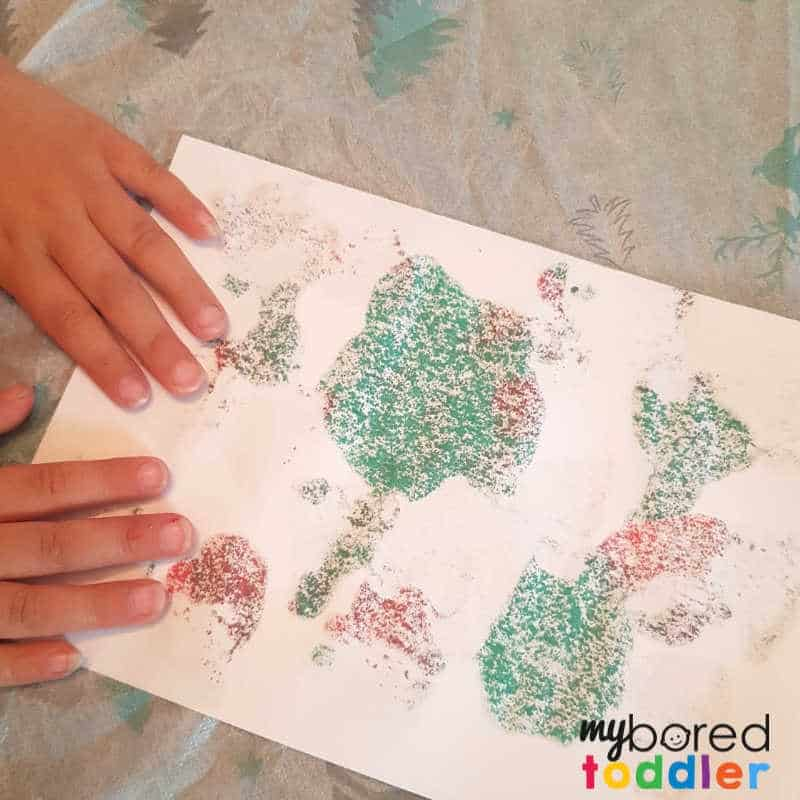 easy christmas painted snowflake craft folding the paper