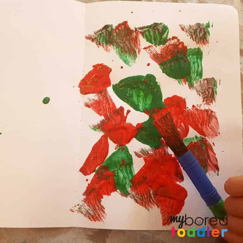 easy christmas painted snowflake craft painting the paper
