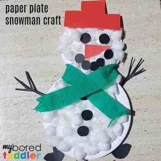 paperplate snowman craft finished feature