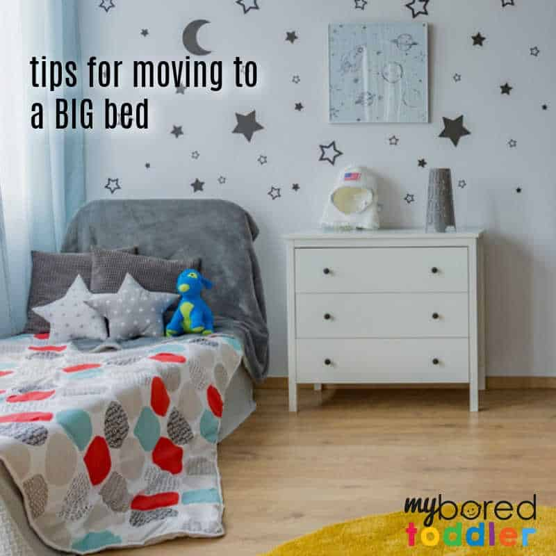 Tips for moving your toddler to a big bed