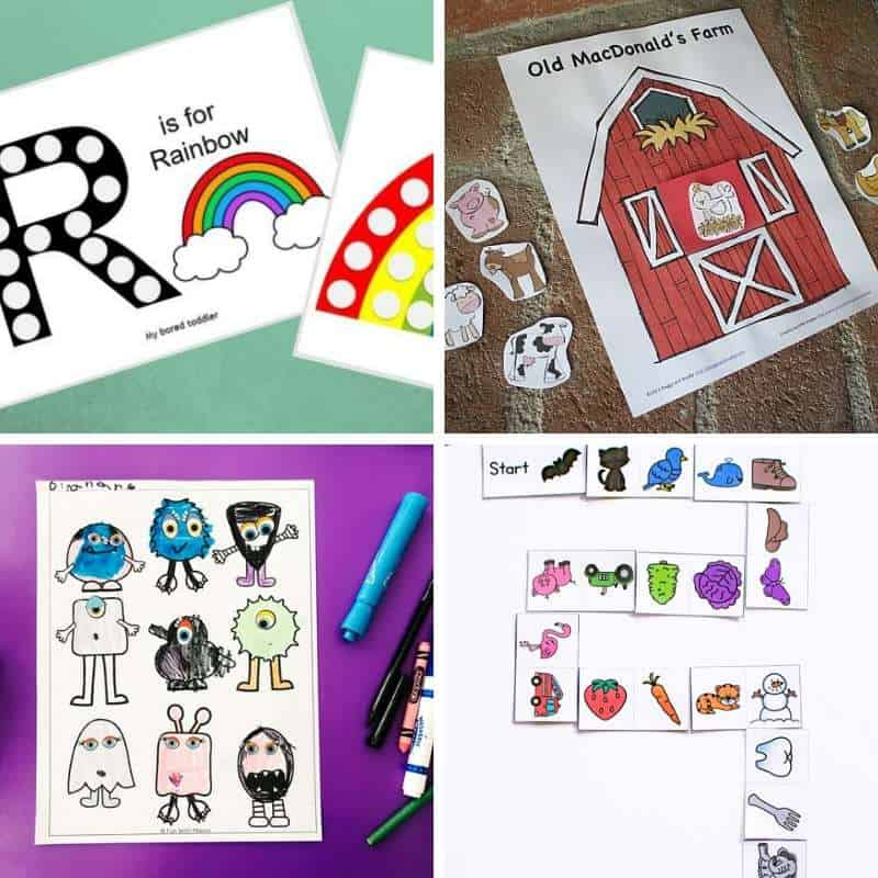 printable activities for toddlers and preschoolers free