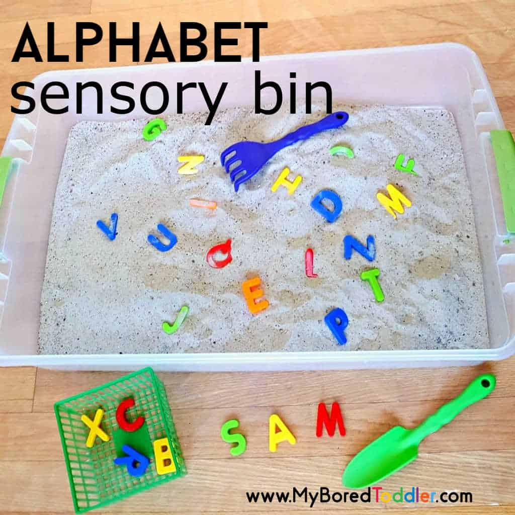 Alphabet Sensory Bin for Toddlers