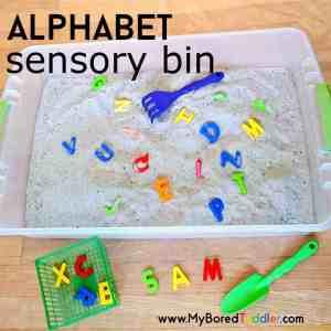 Alphabet Sensory Bin for Toddlers