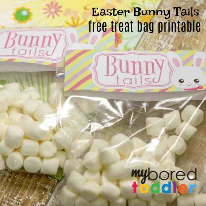 Easter bunny tails free printable treat bag feature instagram