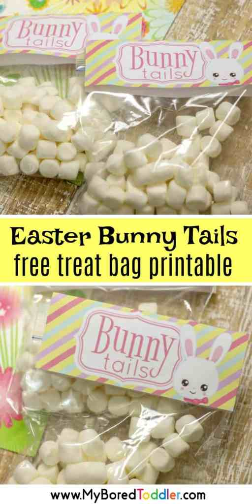 easter bunny tails free treat bag printable pinterest