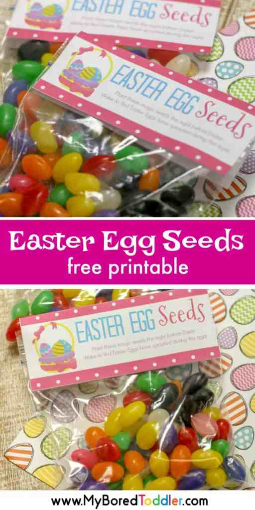 easter egg seeds free printable treat bag for easter pinterest